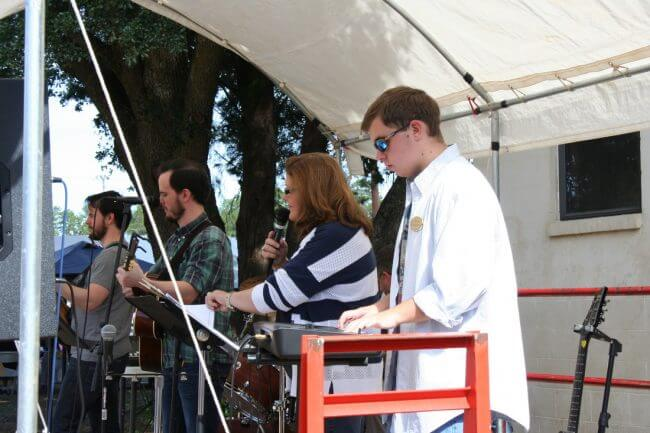 Church band at the Pine Forest United Methodist Church Arts & Crafts Festival &Car Show