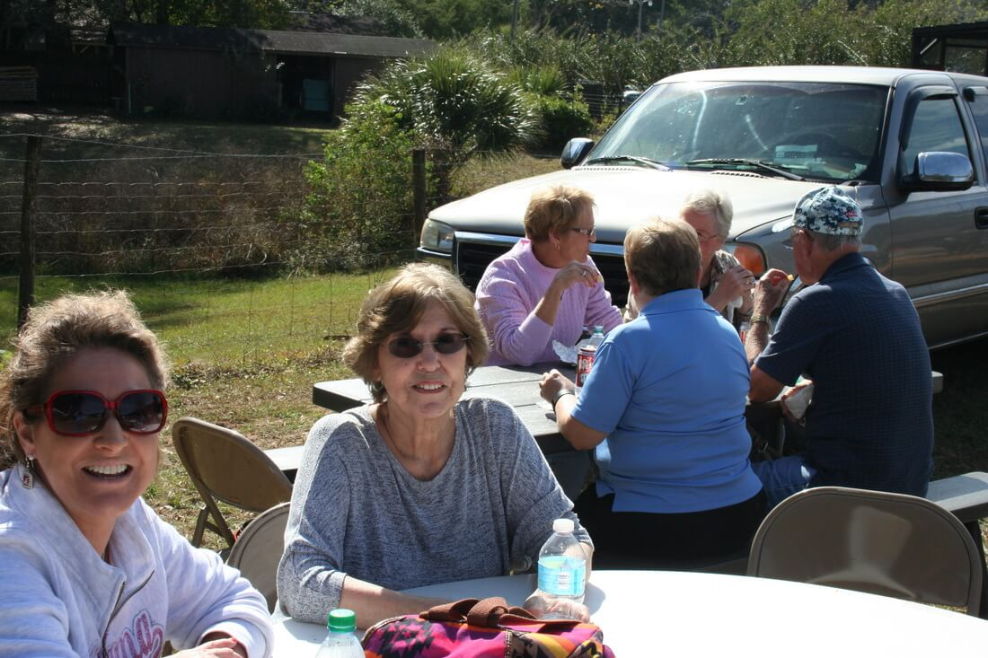 Church group at the Pine Forest United Methodist Church Arts & Crafts Festival &Car Show