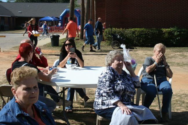 Church ladies at the Pine Forest United Methodist Church Arts & Crafts Festival &Car Show