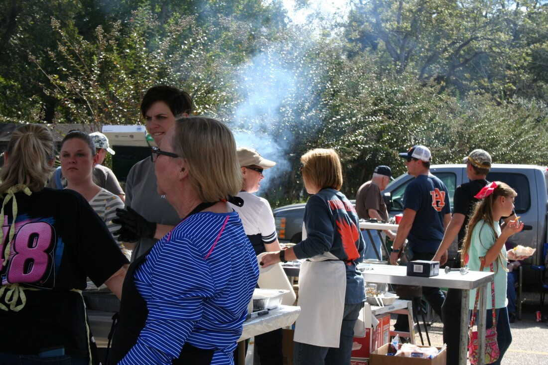 Cookout at the Pine Forest United Methodist Church Arts & Crafts Festival &Car Show