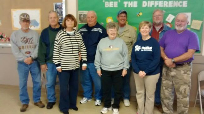 Habitat for Humanity volunteers from our Missions at Pine Forest United Methodist Church