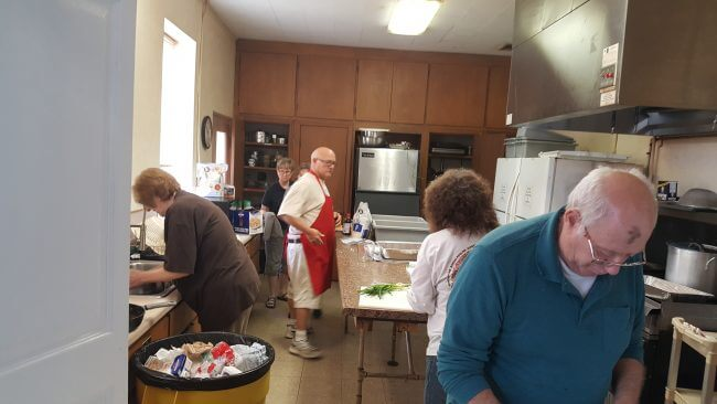 Cooking food for our Missions at Pine Forest United Methodist Church