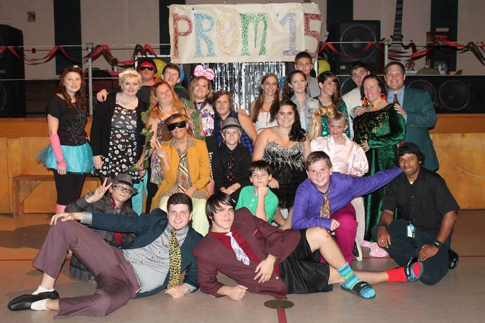 Students at the 2015 prom