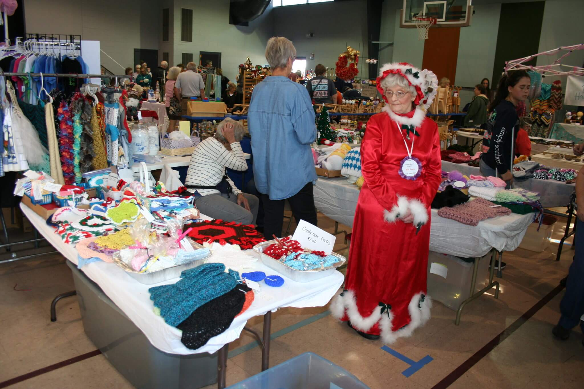 Craft Booths and Mrs. Claus at Pine Forest United Methodist Church Arts & Crafts Festival