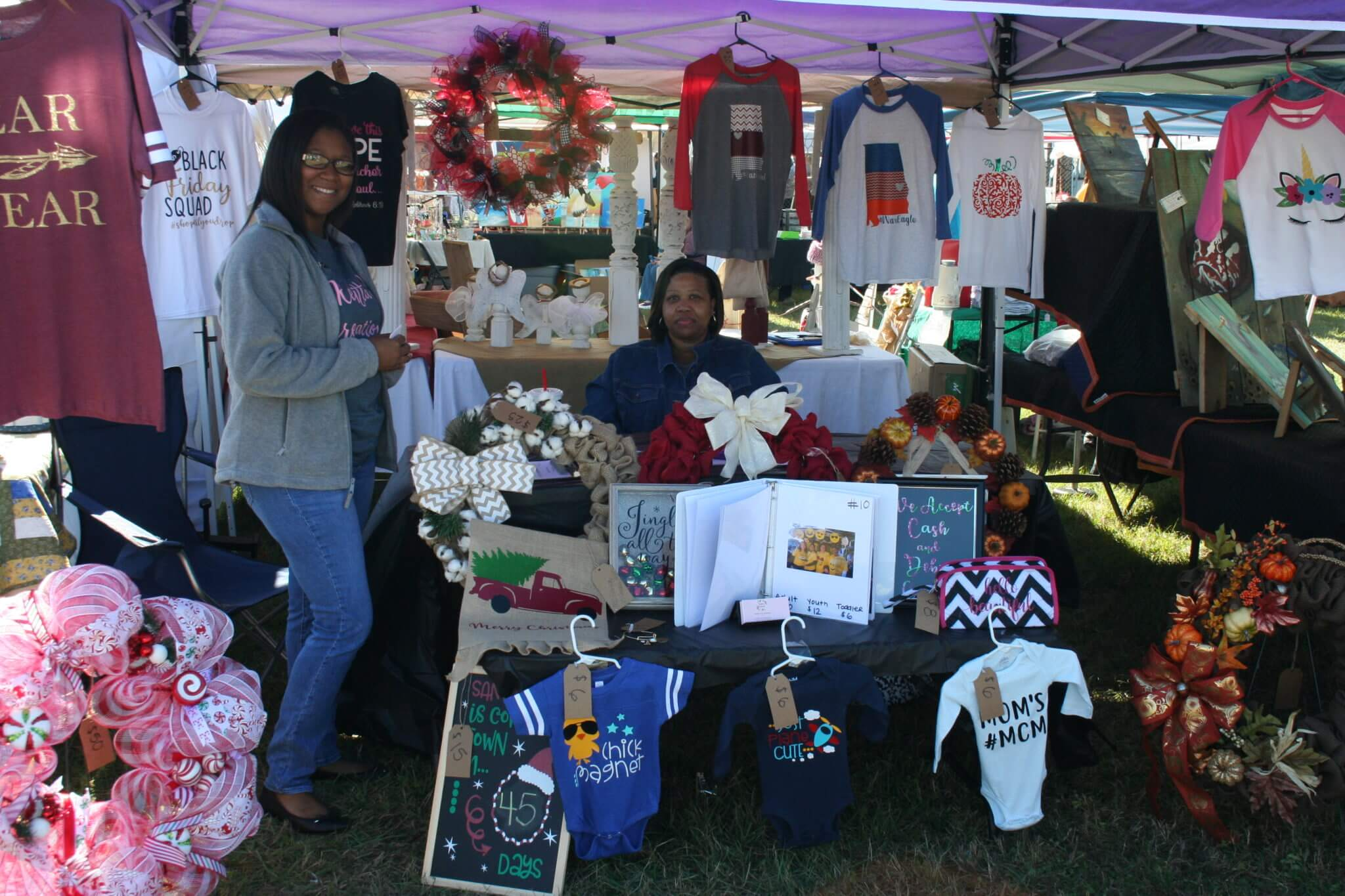 Craft Booths at Pine Forest United Methodist Church Arts & Crafts Festival