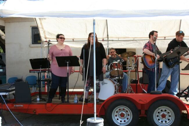 Praise Band at Pine Forest United Methodist Church Arts & Crafts Festival